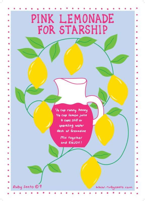 2015 - Pink Lemonade for Starship - raising $45,804